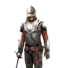 Early concept art of a Florentine guard