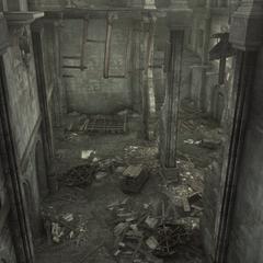 Une autre pièce du palais en ruines