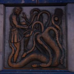 描绘赫拉克勒斯的第二件功绩的浮雕