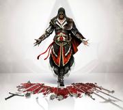 Assassins Creed 2 Ezio weapon concept art by Michel Thibault