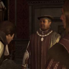 Ezio maakt kennis met Uberto.