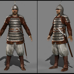 Saracen soldier character model