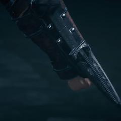 大流士挥舞着第一把袖剑