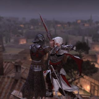 Ezio assassinant le deuxième arquebusier