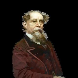 Photo colorisée de Dickens