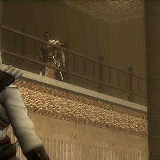 Shalim revealing himself to Altaïr