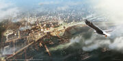1777 New Orleans panoramic view by EddieBennun
