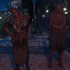 巴尔纳巴斯和伊欧拉在米科诺斯岛的晚宴上