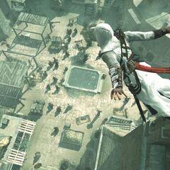 Altaïr s'élançant de l'<a href=