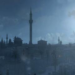 君士坦丁堡夜景全景