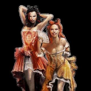 Concept art of the courtesans