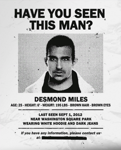 Desmond Miles Wanted Poster