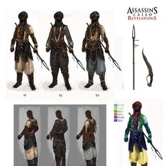 Concept art of the Guardian's customization options