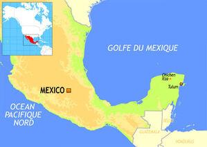 Péninsule du Yucatan map