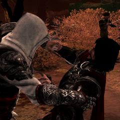 Ezio probeert Cesare te vermoorden.