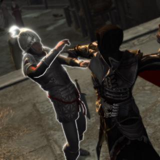 Ezio assassinant le garde agile