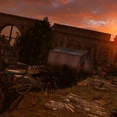 沃尔科特堡垒内部的防御措施