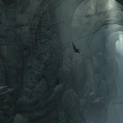 艾吉奥在加拉塔之塔用滑索