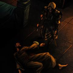 阿奎卢斯站在武尔图尔的尸体旁