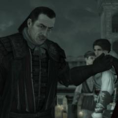 Mario vraagt of Ezio hem volgt.