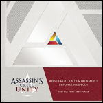 Abstergo Entertainment Employee Handbook Button