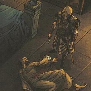 Aquilus devant le cadavre de <b>Vultur</b>
