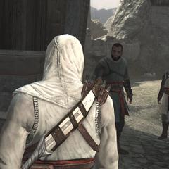 Rauf demandant de l'aide à Altaïr