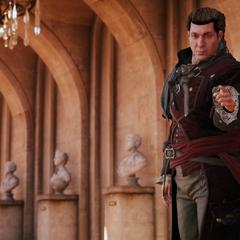 Charles demandant à Arno de rester sage