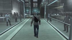 Desmond arrivo corridoio Abstergo