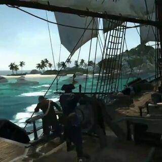 Connor steuert das Schiff