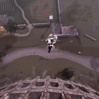 Ezio effectuant un <a href=