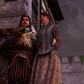 Octavian bedreigd Pantasilea.