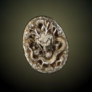 龙玺 – 象牙制成的龙玺,有著雕刻装饰,来自久远的海盗时期。