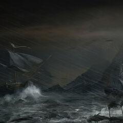《热带风暴》,马克思·秦绘制