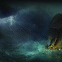 天鹰号穿越热带风暴艺术设定