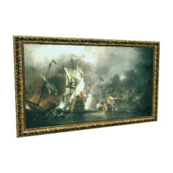 """AC4DB - """"An English Ship in Action with Barbary Vessels"""""""
