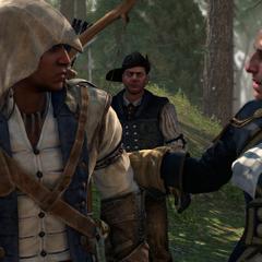 拉法耶特在蒙茅斯战役迎接康纳