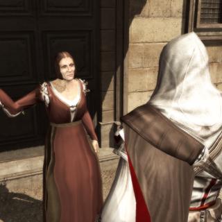 La femme réclamant l'aide d'Ezio