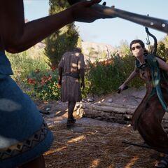 Praxilla s'apprêtant à tuer Mererouka