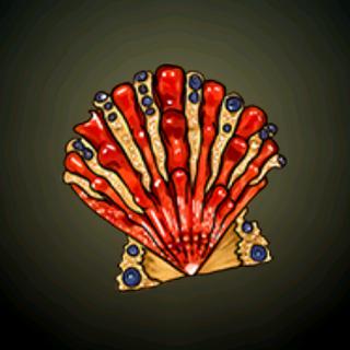 雄师之掌 - 希有的贝壳镶嵌了多款光彩夺目的珠宝。