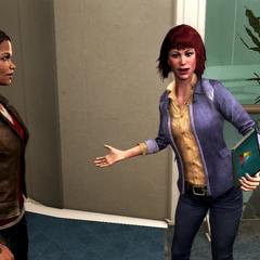 梅拉妮和维奥莱特交谈
