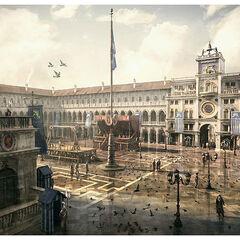 Concept art de la Place Saint-Marc