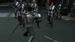 AC2 Desmond combattimento guardie Abstergo nascondiglio
