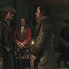 Pitcairn and the others during Charles Lee's induction