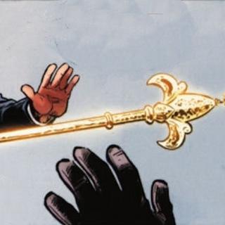 亚历山大将权杖扔给尼古拉