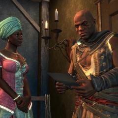 巴斯蒂安娜将识字的奴隶的名单交给阿德瓦莱