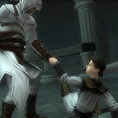Altaïr helping Maria up