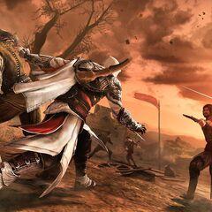 Ezio affrontant Cesare en duel