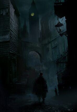 ACS Jack the Ripper wandering Whitechapel - Concept Art