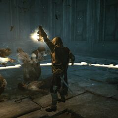 Le pouvoir du Fragment agressant les ennemis d'Arno